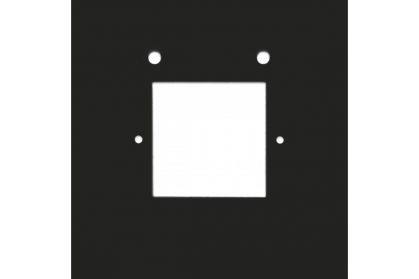 Touch Square Adapter Plate Anthracite (2-Gang)