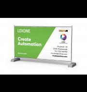 Loxone Bauzaunbanner Gold Partner
