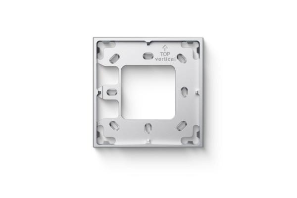 Montážny rámček 1 modul strieborný