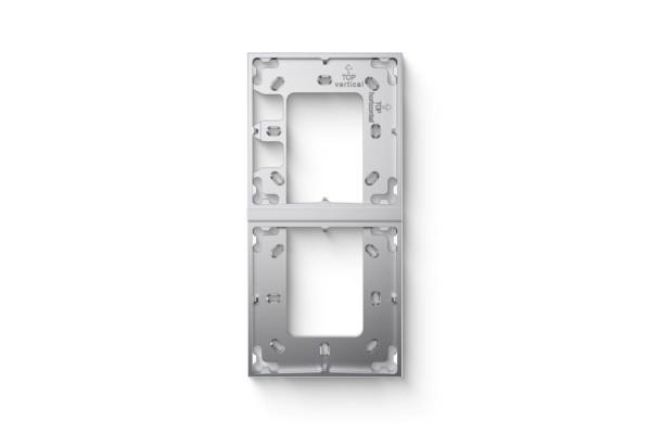Montážní rámeček 2 moduly stříbrná