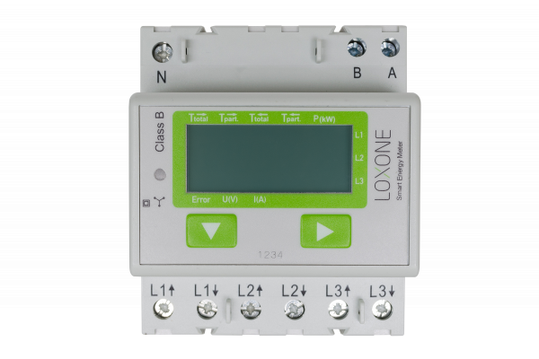 Loxone Modbus elektroměr - 3-fázový - v praxi
